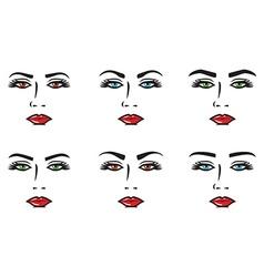 Eyebrow set vector image vector image