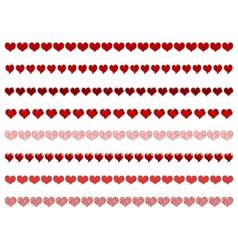 heart borders vector image vector image