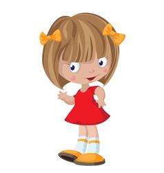 little cute girl vector image