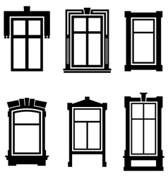 Old windows vector image vector image
