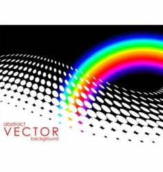 abstract background with rainbow vector image vector image