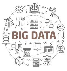 big data linear vector image