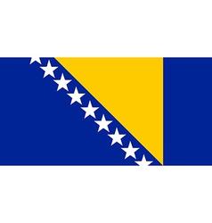 Bosnia and Herzegovina flag vector image vector image