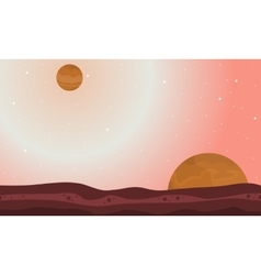Nature on another planet landscape vector image