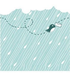 raining poster vector image