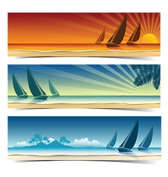 Sail boat background2 vector image