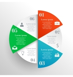 Abstract circle infographic vector image