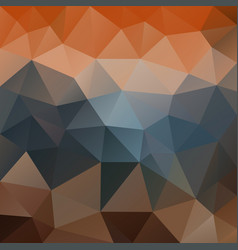 Abstract poly square background orange blue brown vector