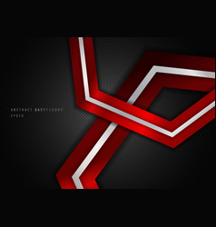 abstract red metalic geometric hexagon vector image