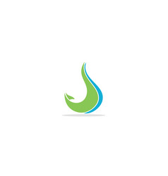 abstract wave eco logo vector image