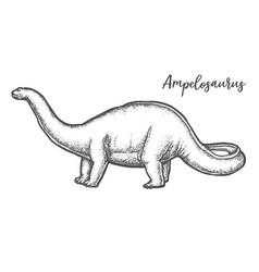 ampelosaurus dino sketch or sauropod dinosaur vector image