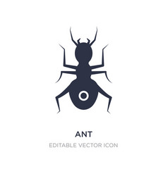 Ant icon on white background simple element from vector