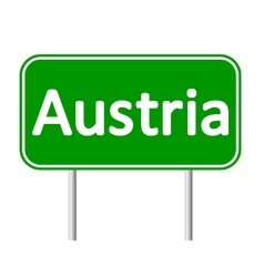 Austria road sign vector