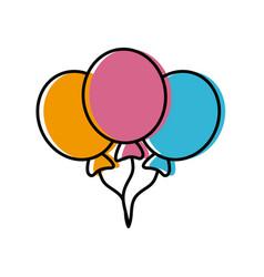 balloons flying decoration celebration element vector image vector image