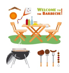 Barbecue BBQ poster elements vector