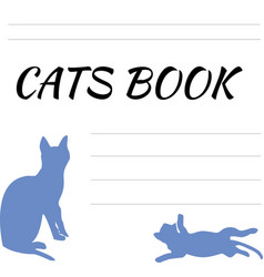 blank for records with cat notepad with a cats vector image