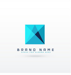 Blue square abstract logo concept design vector