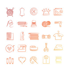 Bright hobby icons vector
