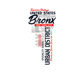 bronx typography design vector image