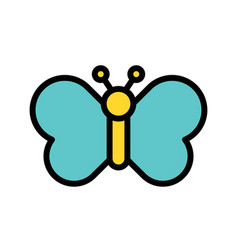 Butterfly easter filled icon editable stroke vector
