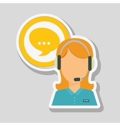 Call center icon design vector