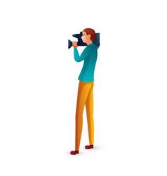 Cameraman flat cartoon vector