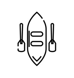 canoe line icon concept sign outline vector image