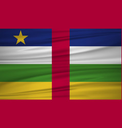 central african republic flag flag of central vector image