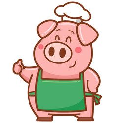 Chef pig vector