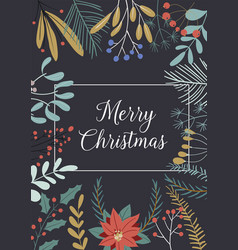 christmas and happy new year greeting cards vector image