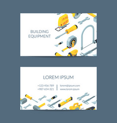 construction tools isometric icons business vector image