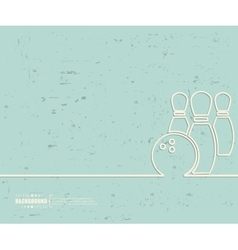 Creative bowling Art template vector image