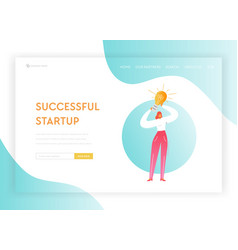 creative business idea startup solutions concept vector image