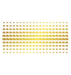 Credit card golden halftone pattern vector