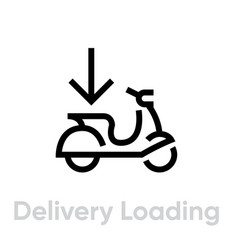 Delivery loading bike icon editable line vector