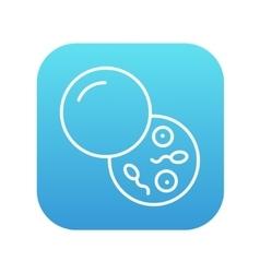 Donor sperm line icon vector