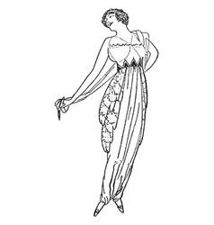 Dress triangular pattern all around the waist vector