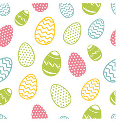 Easter egg seamless pattern cupcakes ostern vector