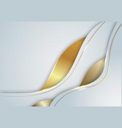 Elegant modern template background white vector