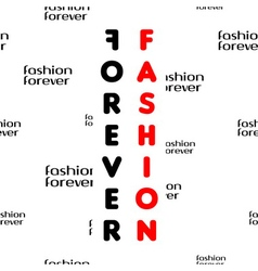 Fashion forever seamless pattern black red vector image