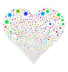 Fireworks star fireworks heart vector