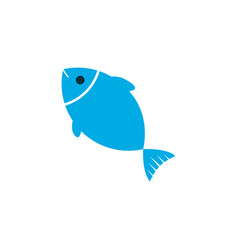 Fish icon colored symbol premium quality isolated vector
