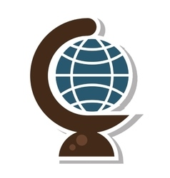 Globe earth school isolated icon vector
