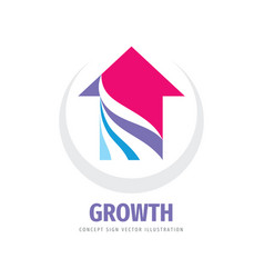 growth arrow - concept logo design vector image