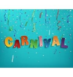 Handmade typographic word carnival vector