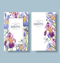 Iris vertical banners vector