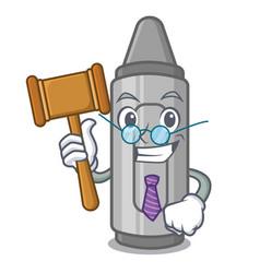 Judge grey crayon in a bag cartoon vector