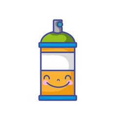 kawaii cute happy aerosol spray vector image