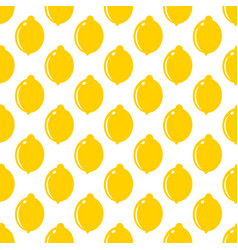 lemon whole fruit seamless art on white pattern vector image