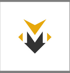 letter m icon template vector image